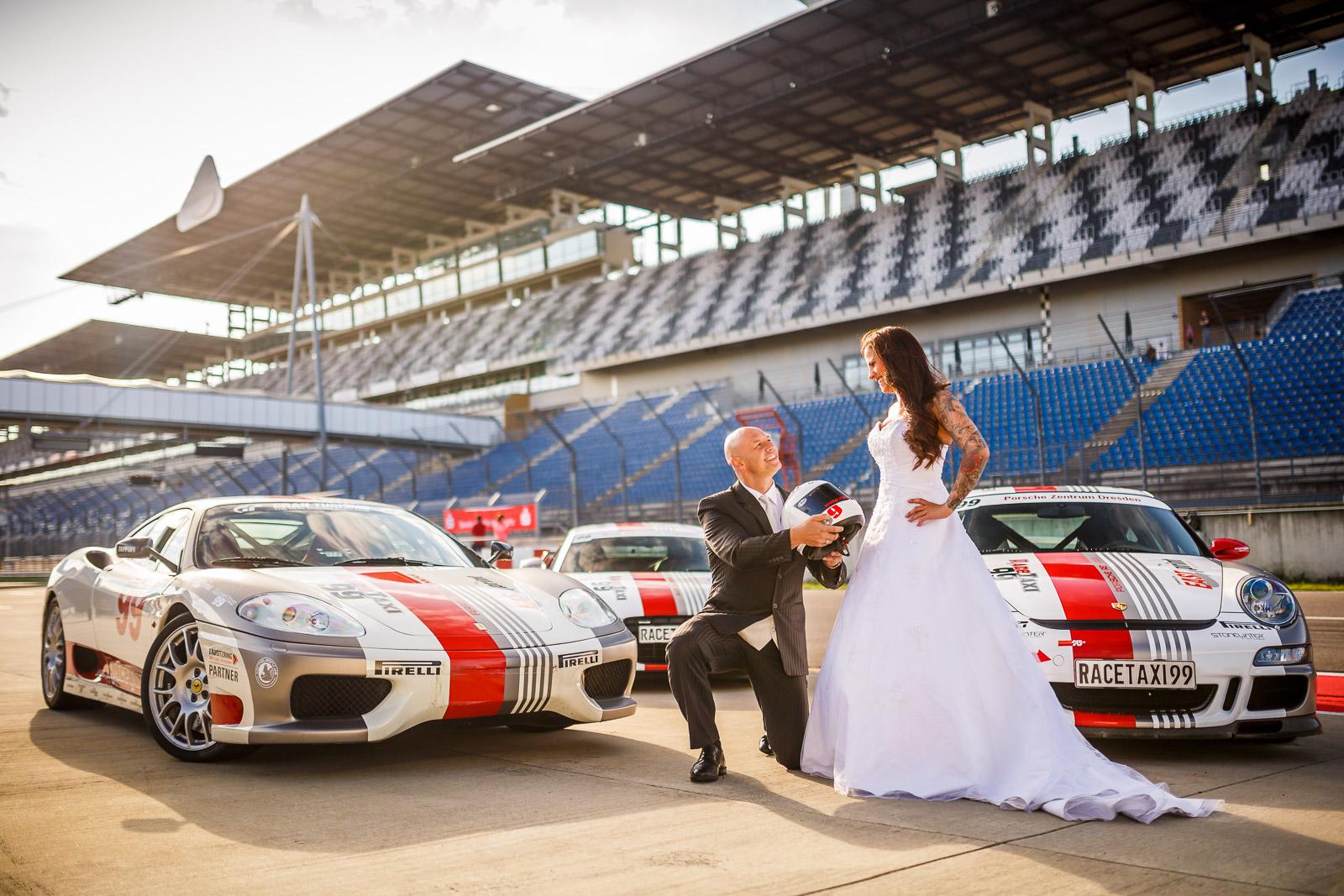 Hochzeitsfotograf Schipkau Lausitzring RaceTaxi - newpic.eu by Toni Kretschmer